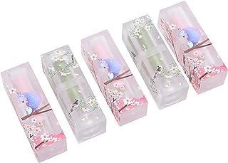 リップバームチューブ、化粧品リップグロスチューブ、自家製リップスティック用5本軽量DIYリップバーム固形香料リップスティック
