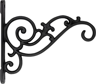 Gray Bunny Classic Victorian Wall Hook, 8 inch, Black, for Bird Feeders, Planters, Lanterns, Wind Chimes, As Wall Brackets and More!