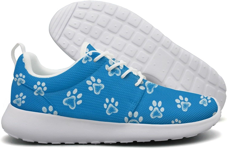 Dog Cat Paw Footprint Women Flex Mesh Lightweight shoes