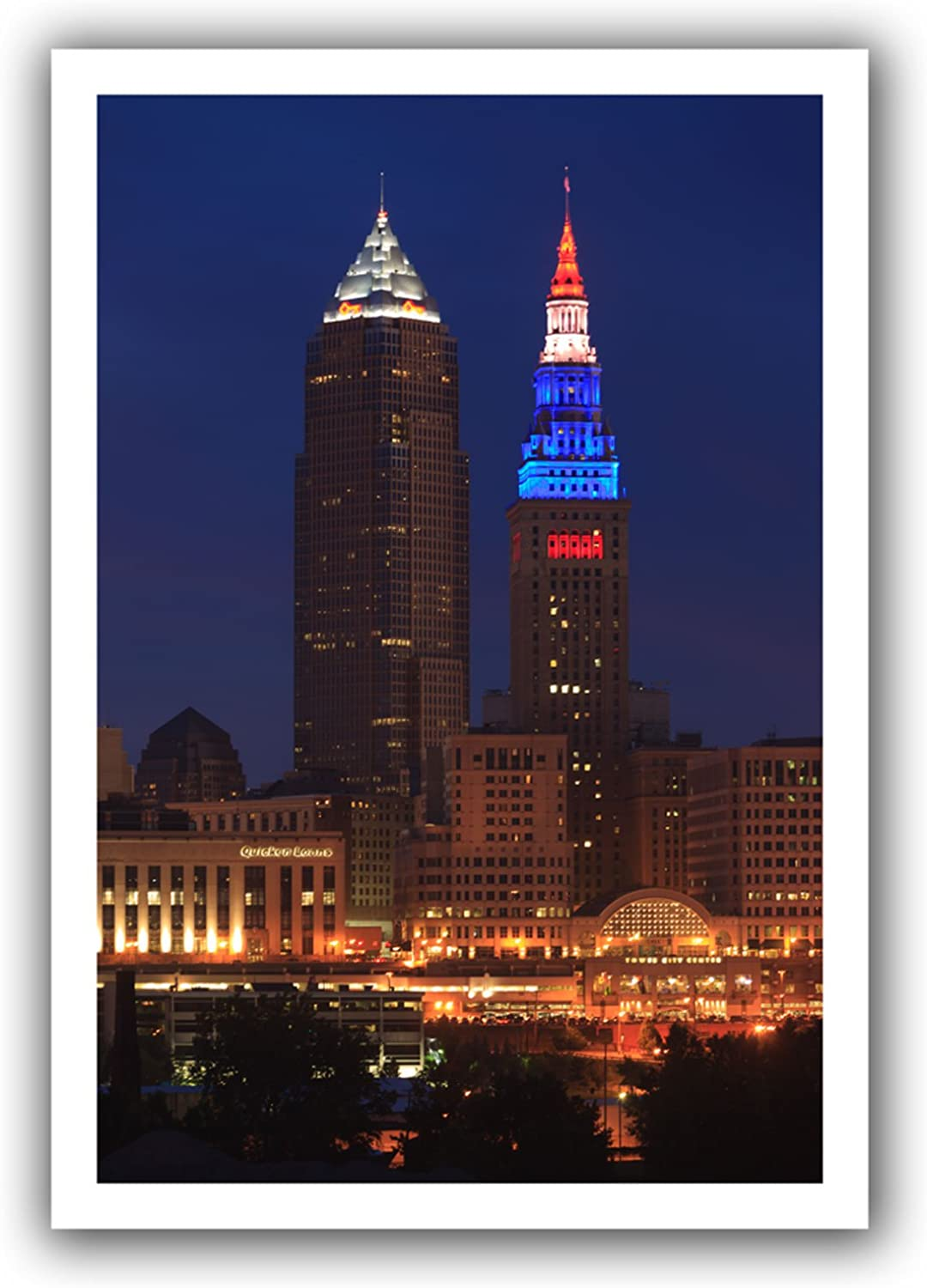 ArtWall Cleveland 4Feet Unwrapped Canvas Art by Cody York, 12 by 18Inch