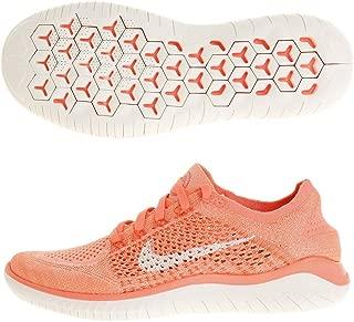 Women's Free RN Flyknit 2018 Crimson Pulse/Sail/Hyper Crimson/Black Nylon Running Shoes 11 (B) M US