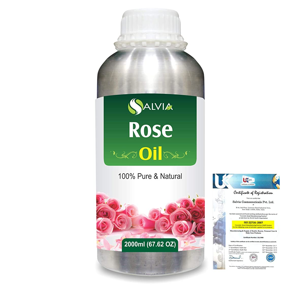 法律によりすずめヤングRose (Rosa Damacenia) 100% Natural Pure Essential Oil 2000ml/67 fl.oz.