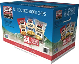 Boulder Canyon Kettle Cooked Potato Chip Variety Pack (24 Individual - 1.5 Oz Bags)