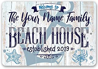 Personalized Beach House Sign - Durable Metal Sign - 8