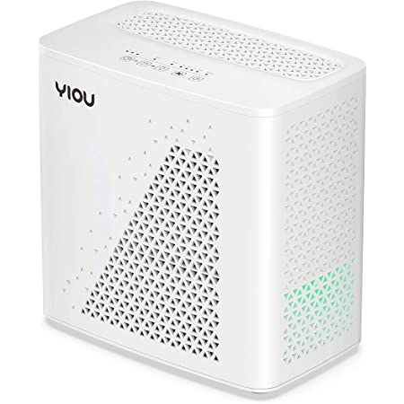 YIOU Air Purifier for Home, Allergies and Pets Dander Smokers in Bedroom, H13 True HEPA Filter, 20db Filtration System Cleaner Odor Eliminators, Remove 99.99% Dust Smoke Mold Pollen, White