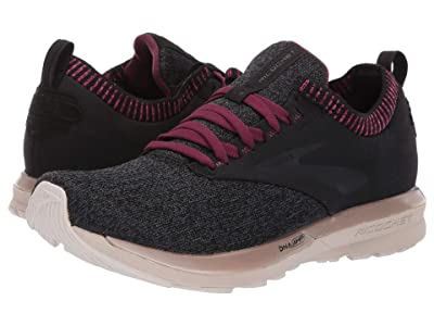 Brooks Ricochet (Black/Grey/Pink) Women