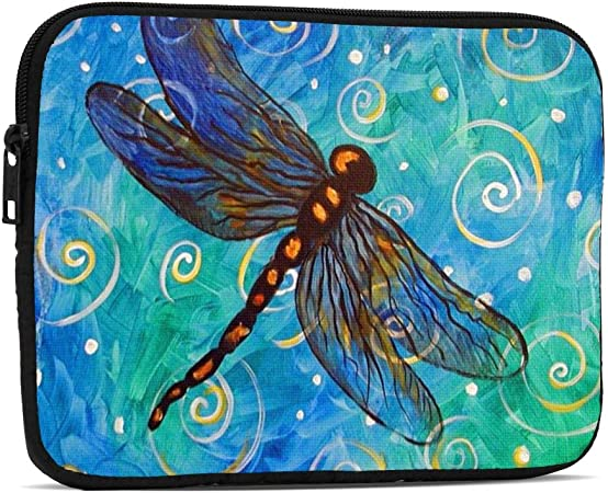 Dark Blue Dragonfly 13 inch Laptop Sleeve Neoprene Notebook Computer Pocket Tablet Briefcase Carrying Bag Pouch Skin Cover Computer Bag