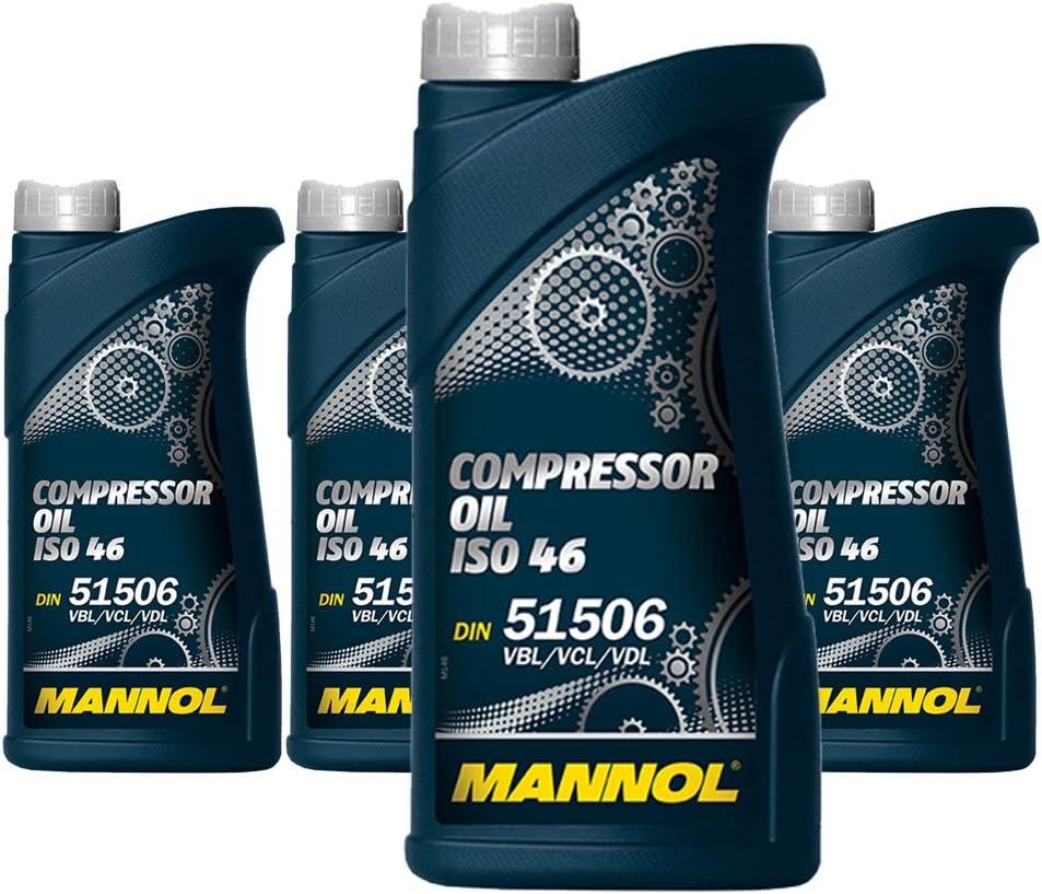 Mannol 4 X 1l Compressor Oil Iso 46 Kompressoröl Din 51 506 Vbl Vcl Vdl Auto