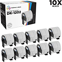 LD Compatible Shipping Label Replacements for Brother DK-1202 2.4 inch x 3.9 inch (10-Pack)