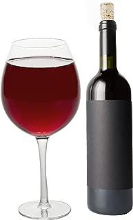 Oversized Extra Large Giant Wine Glass -33.5 oz - Holds a full bottle of wine!