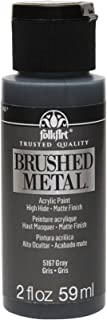 FolkArt Brushed Metal Paint in Assorted Colors (2 oz), 5167 Gray