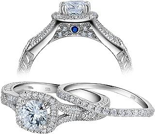 light blue engagement rings