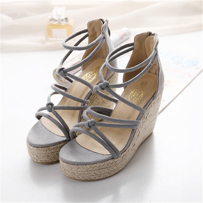 Ladiamonddiva Sandals Pumps Wedge Sandals 2017 Rope Heels Women Platform Sandals Gladiator Summer shoes Woman XWF0562-5