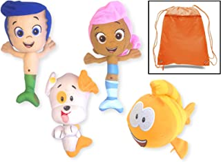 Bubble Guppies Set of 4 Plush with Bag - Includes Molly, Gil, Mr. Grouper, Bubble Puppy