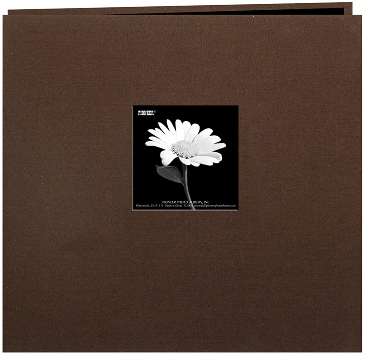 Pioneer 12 Inch by 12 Inch Postbound Frame Cover Memory Book, Chocolate Brown