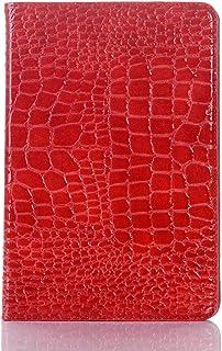 iPad mini 5th/iPad mini 4th Case, DMaos Crocodile Reflector Leather Stand Folio Case Smart Cover, Auto Sleep/Wake, Card Ho...