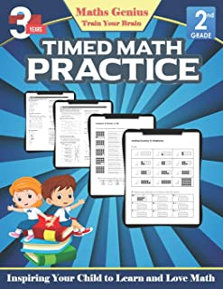 Maths Genius// Timed Math practice Grade 2// Inspiring Your Child to Learn and Love Math: Complete Math Workbook Grade 2: ...