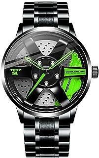 Reloj del Eje del Borde de la Rueda de Coche, Reloj japonés Impermeable del Eje del Borde de los Hombres del Movimiento de...