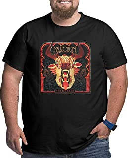 Men Logo of Mastodon The Hunter Big and Tall Short Sleeve O Neck T-Shirts