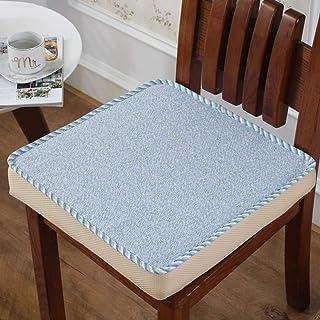 WHZG Cojin Silla Cojín de silla cuadrada extra gruesa, acogida de asiento de espuma de memoria Cojinete de la silla de la silla de la acolcha para soporte para el avión de la silla de ruedas Cojin Sil