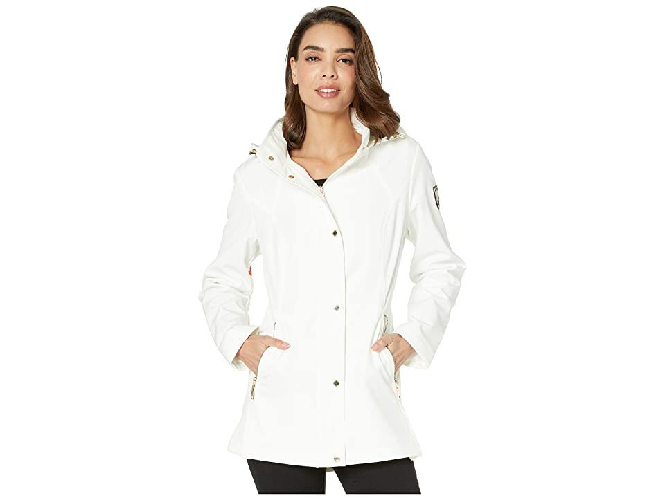 Vince Camuto Hooded Softshell Jacket V19730 (White Bliss) Women