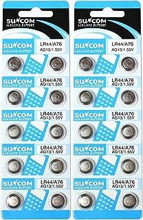 サンコム LR44アルカリボタン電池10個パック × 2シート(計20個)