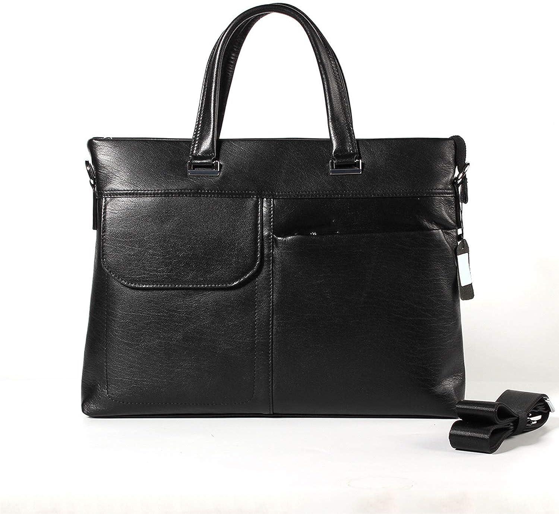 Crossbody Bag 9L Laptop Work Bag Men's Business Leather Briefcase CrossBody Handbag Men's Style First Layer Leather Shoulder Bag