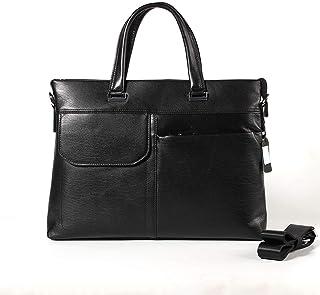 Crossbody Bag 9L Laptop Work Bag Men's Business Leather Briefcase Cross-Body Handbag Men's Style First Layer Leather Shoulder Bag