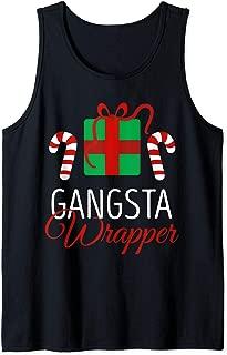 Funny Christmas Pajama Gangsta Wrapper Christmas Tank Top