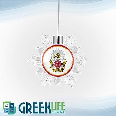 greeklife.store Phi Sigma Kappa Snowflake Round Ornament Christmas Decor