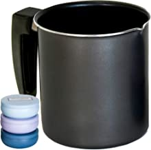 Soap and Candle Making Pouring Pot. Large Melting Pitcher for Arts Crafts DIY Projects Aluminum Construction, Heat Resisting Handle, Dripless Pour Spout. Holds Up to 32 OZ of Candles Wax or Soap Base