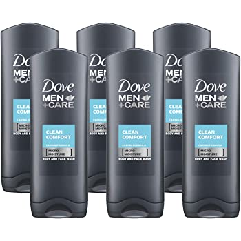 Amazon Com Dove Men Care Body Face Wash Clean Comfort 13 5 Fl Oz 400 Ml X 6 Pack Case Made In Germany Beauty