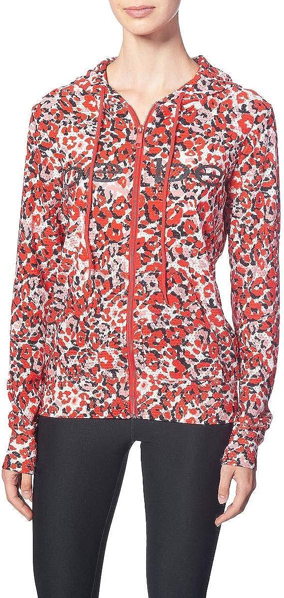 BEBE SPORT Women's Solid Pinhole Mesh Zip Jacket