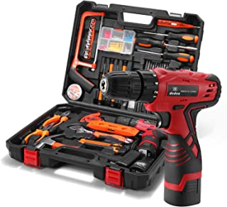 Dedeo Tool Kit with Drill 16.8V Cordless for 60 Accessories Home Cordless Repair Kit Tool Set, Driver Claw Hammer Wrenches...