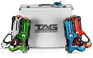 The Adventure Guys Deluxe Lazer Tag Gun Set with Designer Case - Laser Tag Guns Set of 4 for the Whole Family - Premium La...