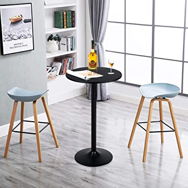 Giantex Pub Bar Table 24-Inch Round Top 40-Inch Height Modern Style Standing Circular Cocktail Table Suitable for Living Room