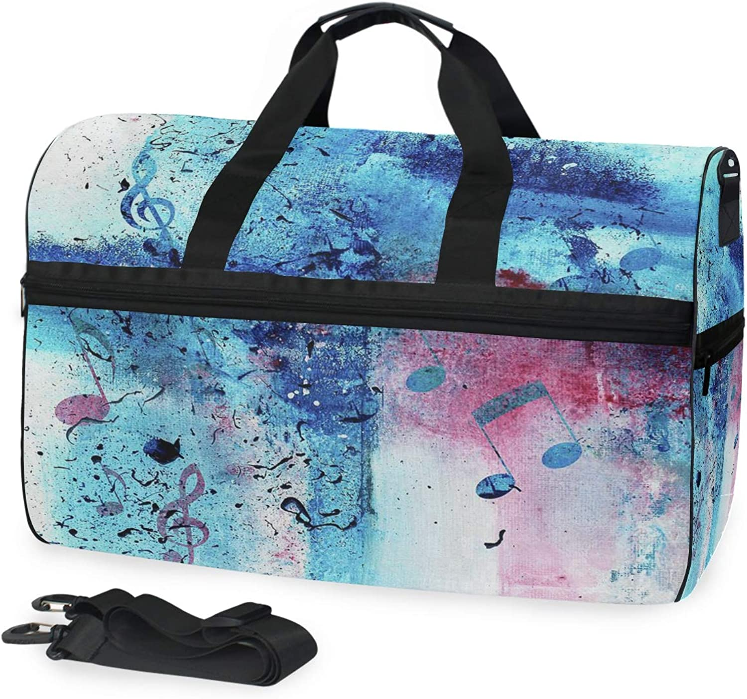 9f5bc2ae5d1d Gym Bag Painting Music Notes Sport Duffle Holdall Bag Training ...