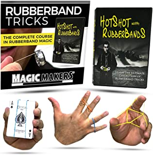 Magic Makers Become Hot Shot with Rubber Band, Complete Course, Fully Demonstrated and Explained in Easy to Follow Step by Step Videos for Quick Mastery