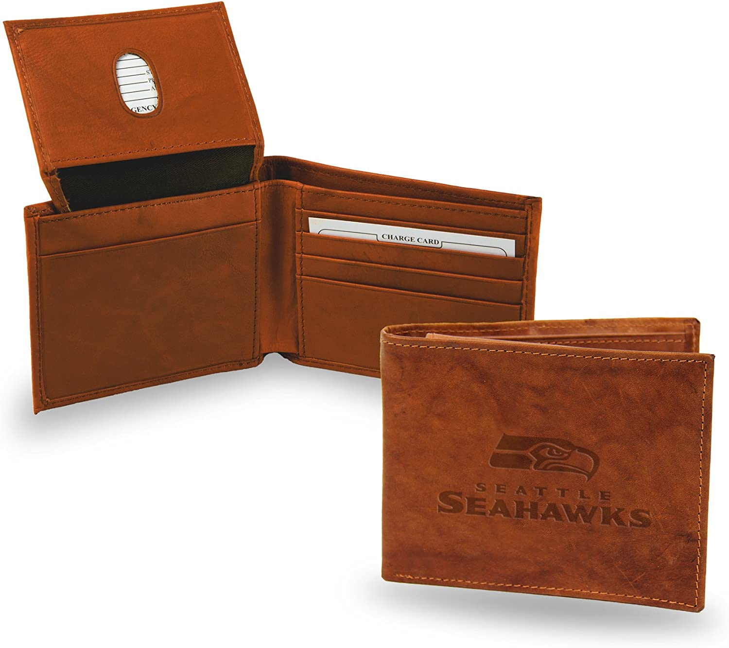Rico Popular popular Industries Adult-Unisex's NFL specialty shop Leather Brown Billfold Wallet