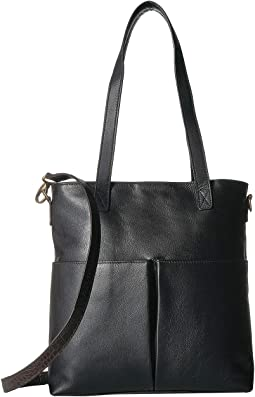 Catia Leather Tote w/ Detachable Shoulder Strap