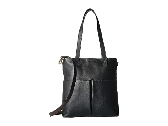 Scully  Catia Leather Tote with Detachable Shoulder Strap (Black) Handbags