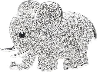 NOPNOG Auto Lufterfrischer, Elefant, Diamant, Kristall Ornament, Klammer, Parfüm, Auto Dekoration, Silber
