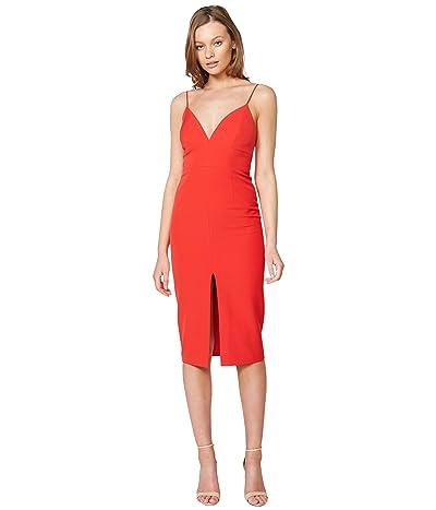 Bardot Ava Slit Front Dress (Fire Red) Women