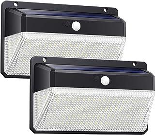 Ekrist Luz Solar Exterior, 328 LED Luces Solares【3000lm-Más Brillante & Amplio Iluminación】Foco Solar Exterior con Sensor de Movimiento, 2500mAh 3 Modos Impermeable Luz led Solar para Jardín 2 Paquete