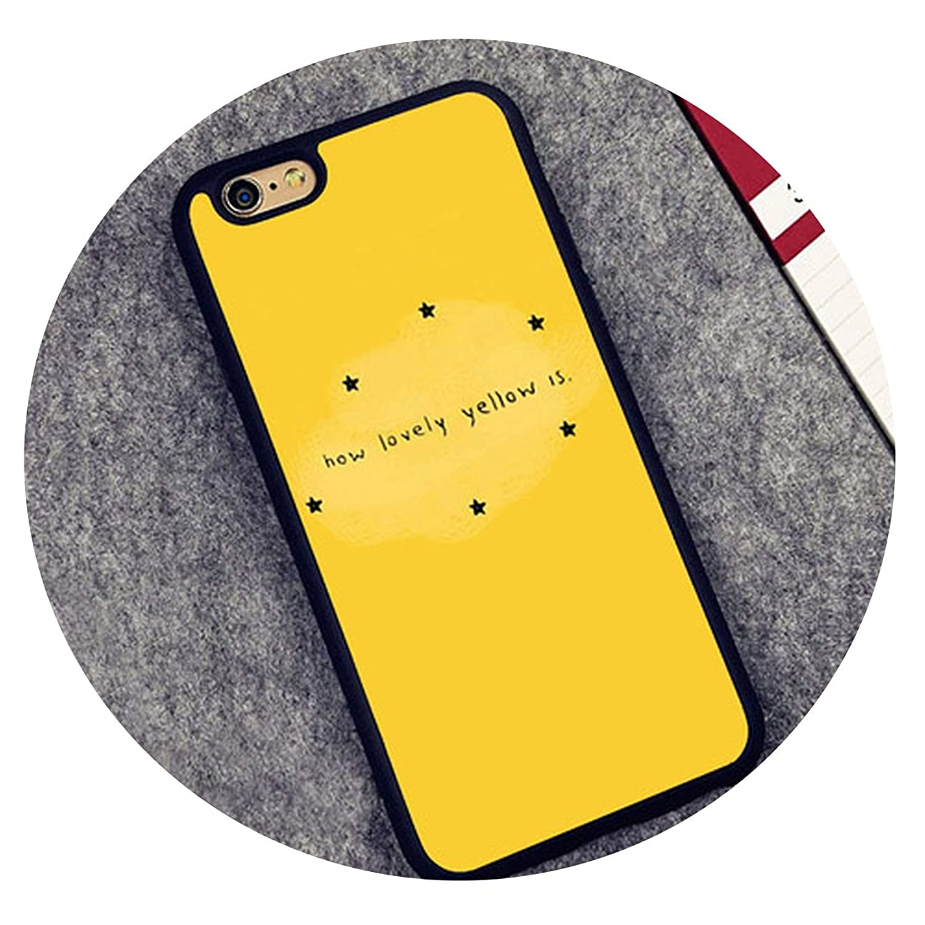 Yellow Aesthetic Art Soft Rubber Phone Cases for iPhone 6 6S Plus 7 8Plus X XR XS MAX 5 5S SE Cover Bags Skin Shell,2322,for iPhone XR