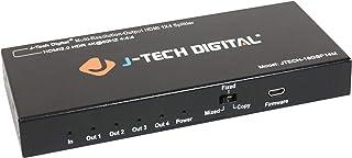 (1X4 Splitter) - J-Tech Digital Scaler/Multi-Resolution Output (MRO) 18GBps 1x4 HDMI 2.0 Splitter HDR10/Dolby Vision 4K@60...