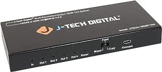 J-Tech Digital Scaler/Multi-Resolution Output (MRO) 18GBps 1x4 HDMI 2.0 Splitter HDR10/Dolby Vision 4K@60Hz 4:4:4 [JTECH-18GSP14M]