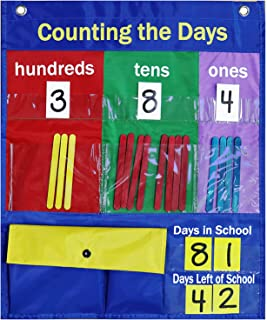 Pocket Chart School Classroom Pocket Chart Counting The Days Back with Strip Number Cards Counting Sticks Develop Counting...