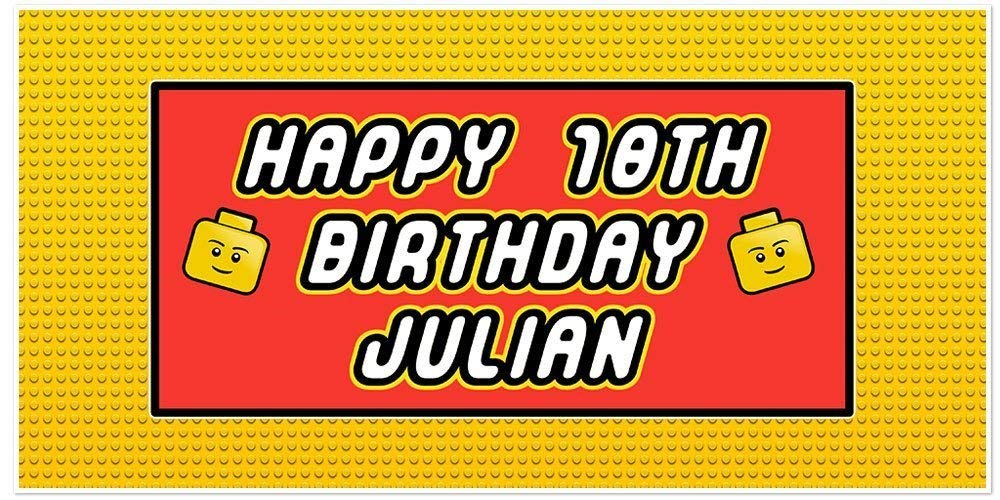 Max 88% OFF 67% OFF of fixed price Personalized Building Blocks Birthday Banner Decoration Party Ba