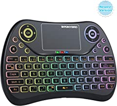 (Newest Version) PONYBRO Mini Wireless Keyboard with Touchpad Mouse,Backlit Handheld Keyboard, Android Keyboard Wireless Remote Keyboard for Android TV Box,Smart TV,Raspberry Pi,PC,Notebooks.(MK1)